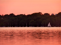 Sailboat and Sunset Lake Harriet