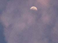 Half Moon in Clouds 38th Street
