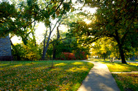 Bright Fall Morning at Minnehaha Park