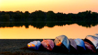 Resting Canoes at Sunrise-Lake Nokomis