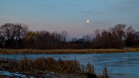 Full Moon in Morning-Lake Hiawatha